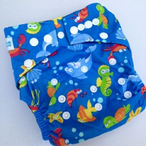 Baby Bum Boutique Basics - Under the Sea - Bamboo charcoal nappies